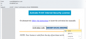 Avast Internet Security Activation Code 2019